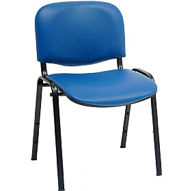 ISO Lexaire Vinyl Conference Chairs Black Frame (Pack of 4) £44 - Office Chairs