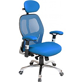 Ergo-Tek Blue Mesh Manager Chair £139 - Office Chairs