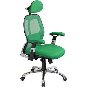 Ergo-Tek Green Mesh Manager Chair £129 - Office Chairs