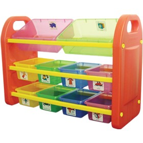10 Bin Storage Organiser £0 - Education Furniture