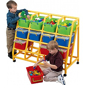 12 Bin Mobile Storage £206 - Education Furniture