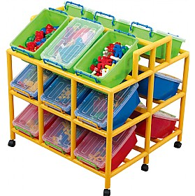 18 Tilt Bin Mobile Storage £254 - Education Furniture