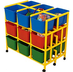 18 Cubby Mobile Storage £255 - Education Furniture