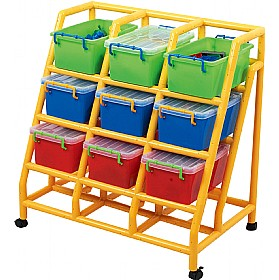 9 Bin Mobile Storage £0 - Education Furniture