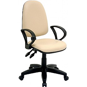 Rhino High Back Operator Chair Sierra Vinyl £90 - Office Chairs