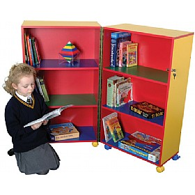 Mobile Foldaway Bookcase £285 - Education Furniture