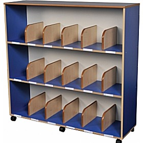 Childrens Bookcase With Drywipe Board Blue £343 - Education Furniture