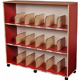 Childrens Bookcase With Drywipe Board Red £343 - Education Furniture