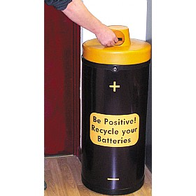 Battery Recycling Bin 'Be Positive' £0 - Office Furnishings