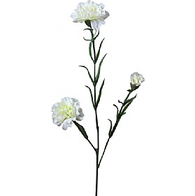 Triple Stem Carnation - White £17 - Office Furnishings