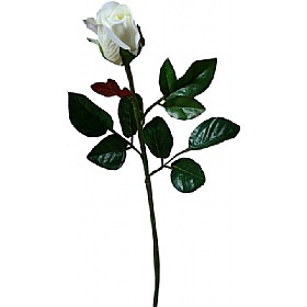 Single Stem Closed Bud Rose - Yellow / White £0 - Office Furnishings