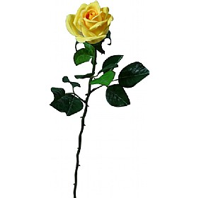 Single Stem Half Open Rose - Yellow £0 - Office Furnishings