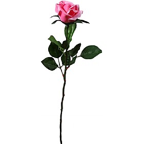Single Stem Half Open Rose - Deep Pink £10 - Office Furnishings