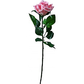 Single Stem Half Open Rose - Pink £0 - Office Furnishings