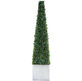 6ft Pyramidal Boxwood and Ivy Tower £0 - Office Furnishings