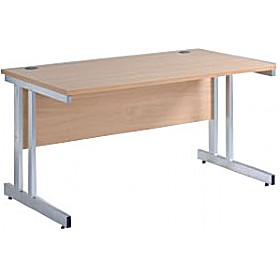NEXT DAY Pulse Rectangular Cantilever Desk £121 - Next Day Office Furniture