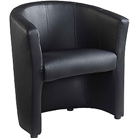 NEXT DAY Pentland Leather Faced Tub Chair £164 - Reception Furniture