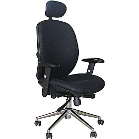 Pacific High Back Black Mesh Chair £188 - Office Chairs