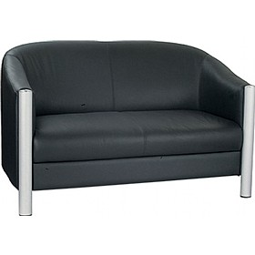 Chill Chrome Detail Two Seat Sofa £686 - Reception Furniture