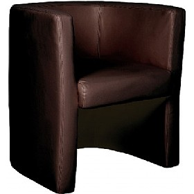 Layla Tub Chair Brown £153 - Reception Furniture