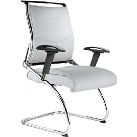 Java Executive Visitor Chair White £177 - Office Chairs