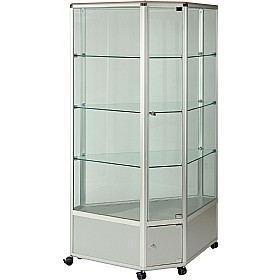 High Level Corner Glazed Display Cabinet £2066 - Display/Presentation