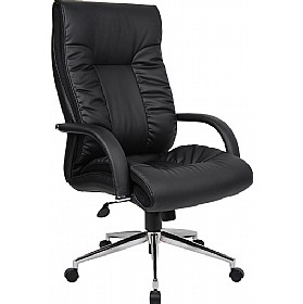 Ashbourne Leather Faced Executive Chair £172 - Office Chairs