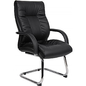 Ashbourne Leather Faced Visitor Chair £140 - Office Chairs