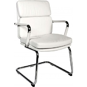 Deco Visitor Chair White £113 - Office Chairs
