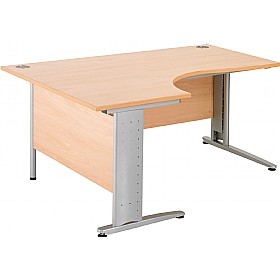 NEXT DAY Gravity Executive Ergonomic Cantilever Desk £294 - Next Day Office Furniture