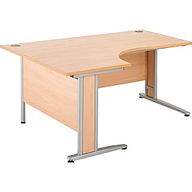 NEXT DAY Gravity Deluxe Ergonomic Cantilever Desk £245 - Next Day Office Furniture