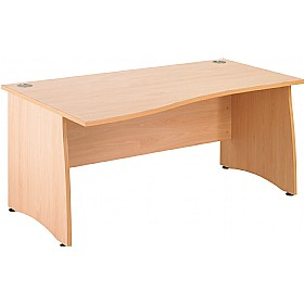 NEXT DAY Gravity Contract Wave Panel End Desk £190 - Next Day Office Furniture