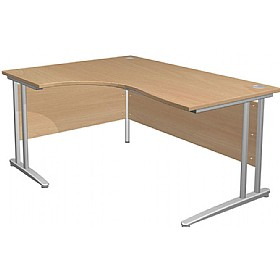 NEXT DAY Gravity Standard Ergonomic Cantilever Desk £230 - Next Day Office Furniture