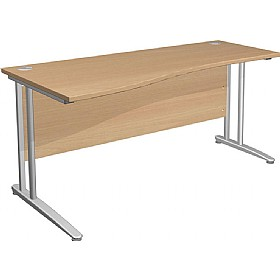 NEXT DAY Gravity Standard Shallow Wave Cantilever Desk £190 - Next Day Office Furniture