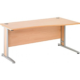 NEXT DAY Gravity Deluxe Shallow Wave Cantilever Desk £194 - Next Day Office Furniture