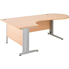 NEXT DAY Gravity Executive Ergonomic Conference Cantilever Desk £342 - Next Day Office Furniture