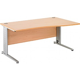 NEXT DAY Gravity Executive Wave Cantilever Desk £251 - Next Day Office Furniture