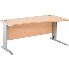 NEXT DAY Gravity Executive Shallow Wave Cantilever Desk £239 - Next Day Office Furniture