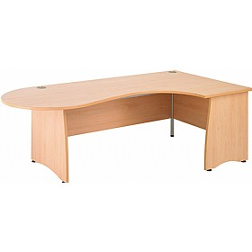 NEXT DAY Gravity Contract Ergonomic Conference Panel End Desk £303 - Next Day Office Furniture