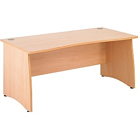 NEXT DAY Gravity Contract Double Wave Panel End Desk £217 - Next Day Office Furniture