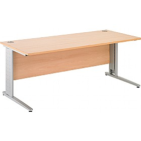 NEXT DAY Gravity Executive Cantilever Rectangular Desk £190 - Next Day Office Furniture