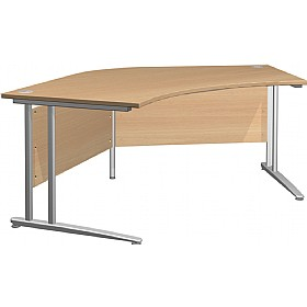 NEXT DAY Gravity Standard Delta Cantilever Desk £278 - Next Day Office Furniture