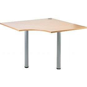 NEXT DAY Gravity Quad Meeting Table Round Legs £123 - Next Day Office Furniture