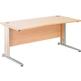 NEXT DAY Gravity Deluxe Cantilever Double Wave Bow Desk £257 - Next Day Office Furniture