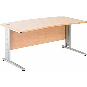 NEXT DAY Gravity Plus Cantilever Double Wave Bow Desk £272 - Next Day Office Furniture