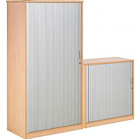 NEXT DAY Gravity Tambour Cupboard £333 - Next Day Office Furniture
