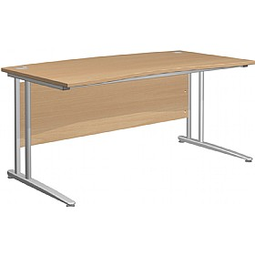 NEXT DAY Gravity Standard Cantilever Double Wave Bow Desk £240 - Next Day Office Furniture
