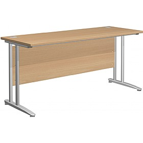 NEXT DAY Gravity Standard Shallow Rectangular Cantilever Leg Desk £149 - Next Day Office Furniture