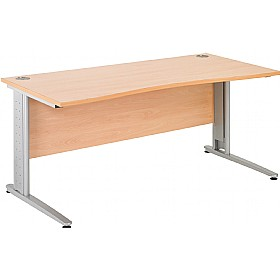 NEXT DAY Gravity Plus Double Wave Cantilever Desk £262 - Next Day Office Furniture