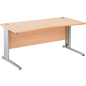 NEXT DAY Gravity Executive Double Wave Cantilever Desk £260 - Next Day Office Furniture